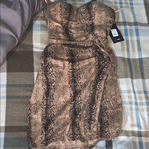 Snake skin printed dress